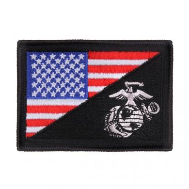 Nášivka vlajka USA/USMC velcro BAREVNÁ