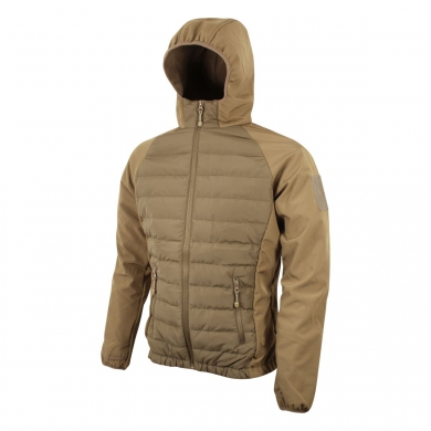 Bunda SNEAKER softshell/fleece COYOTE