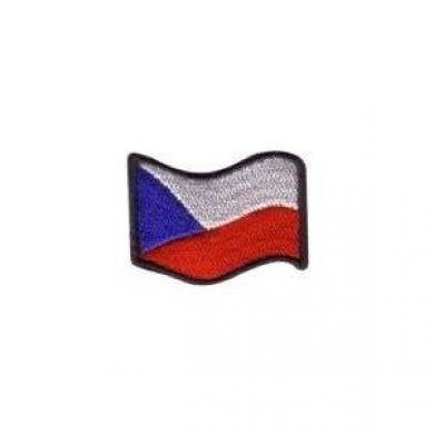 Nášivka ÈR vlajka vlající BAREVNÁ (44mm)