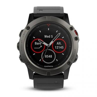 Chytré hodinky Garmin Fenix5X Sapphire Gray Optic èerný øemínek
