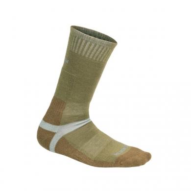 Ponožky MERINO ZELENO/HNÌDÉ
