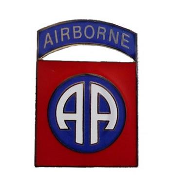 Odznak 82nd AIRBORNE CREST STØÍBRNÁ