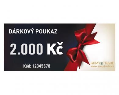 Dárkový poukaz 2000 Kè