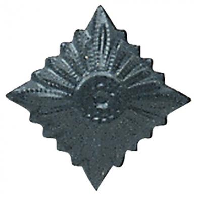 Odznak hodnostní NVA hvìzda MATT - ŠEDÁ