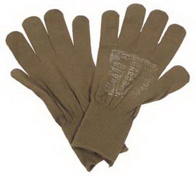 Rukavice prstové US HNÌDÉ original