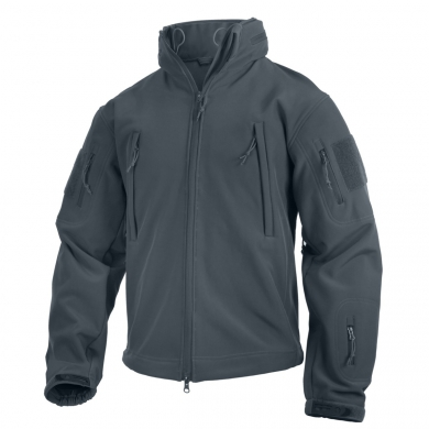 Bunda TACTICAL s kapucí softshell ŠEDÁ