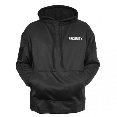 Mikina SECURITY s kapucí ÈERNÁ