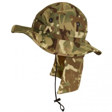 Klobouk britský MTP s ochranou krku použitý