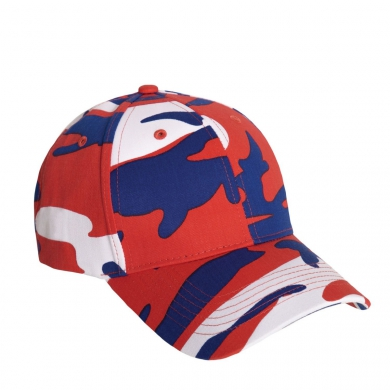 Èepice BASEBALL Supreme Low Red / White / Blue Camo