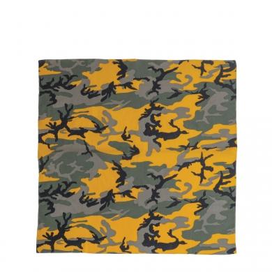 Šátek 68 x 68 cm JUMBO URBAN CAMO YELLOW
