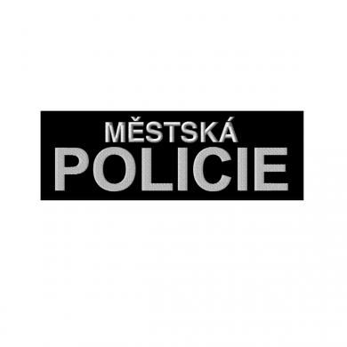 Nášivka MÌSTSKÁ POLICIE velká ÈERNÁ