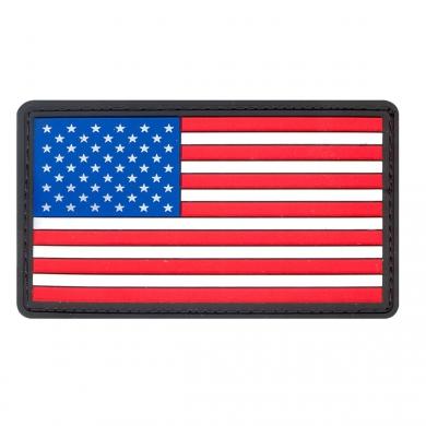 Nášivka vlajka USA plast BAREVNÁ