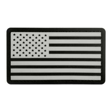 Nášivka vlajka USA plast ÈERNÁ/BÍLÁ