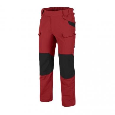 Kalhoty OUTDOOR TACTICAL® softshell ÈERVENÉ/ÈERNÉ