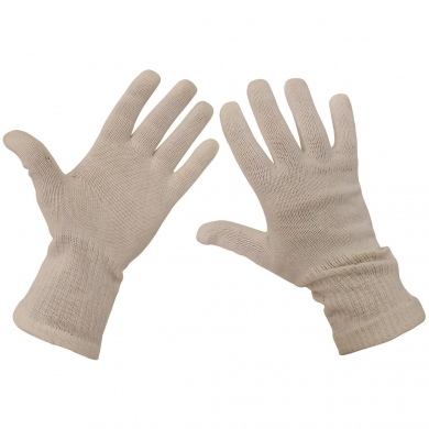 Rukavice prstové AÈR pletené bílé použité