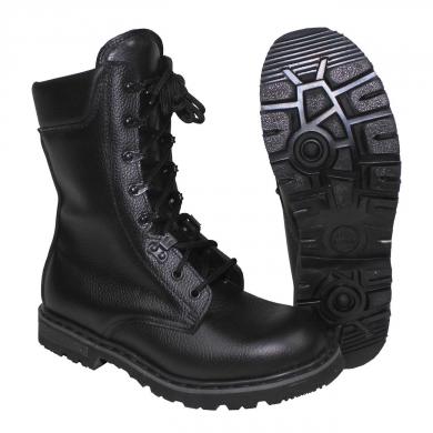 Boty holandské bojové kožené ÈERNÉ
