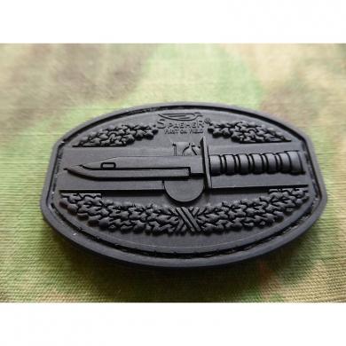 Nášivka COMBAT ACTION plast 3D VELCRO ÈERNÁ