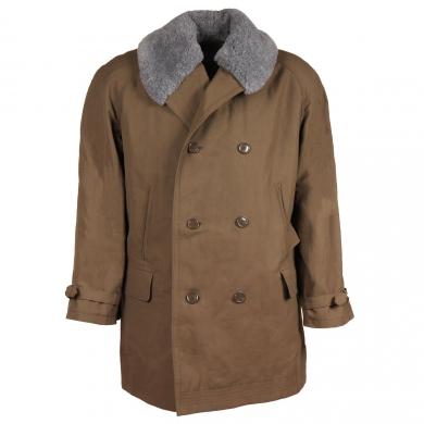 Kabát vycházkový s kožíškem vz.85 dvouøadé zapínání