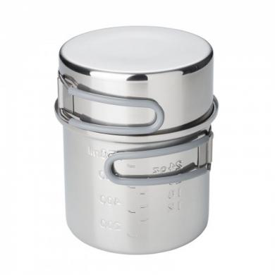 Hrnec dvojdílný 1 litr NEREZ OCEL