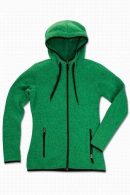 Dámská mikina Active Knit Fleece - Zelená