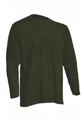 Pánské trièko Regular dlouhý rukáv - Zelené