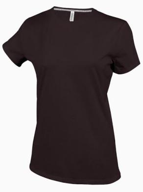 Dámské trièko kr.rukáv V-neck - Hnìdé