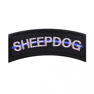 Nášivka SHEEP DOG modrá linka VELCRO