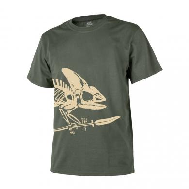 Triko skelet chameleona ZELENÉ