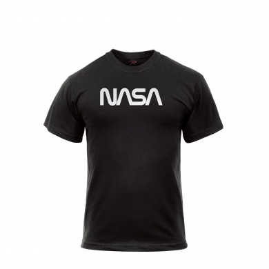 Triko s krátkým rukávem NASA ÈERNÉ