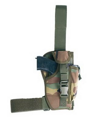 Pouzdro pistolové MODULAR stehenní WOODLAND