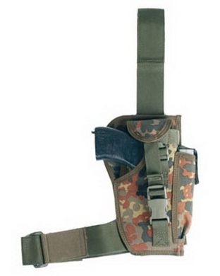 Pouzdro pistolov� MODULAR stehenn� FLECKTARN