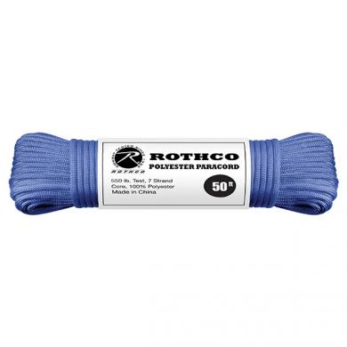 Šòùra PARACORD polyester 550LB 15 m 4mm MODRÁ
