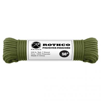 Šòùra PARACORD polyester 550LB 15 m 4mm OLIV