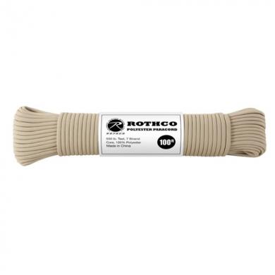Šòùra PARACORD polyester 550LB 30m 4mm TAN