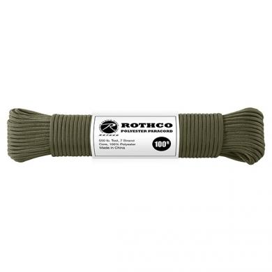 Šòùra PARACORD polyester 550LB 30m 4mm OLIV