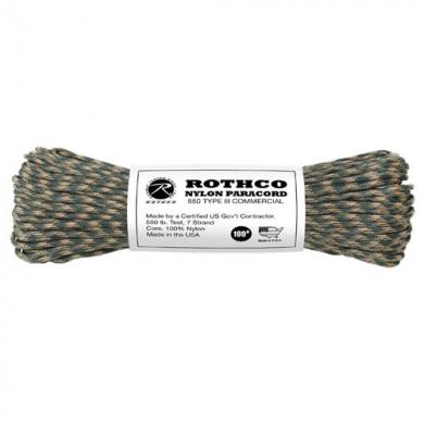 Šòùra PARACORD nylon 550LB 30m 4mm CAMO