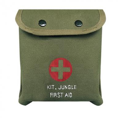 Lékárnièka první pomoci M-1 JUNGLE ZELENÁ s køížem