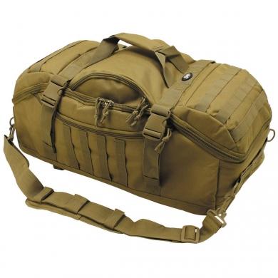 Taška kombinovaná s batohem TRAVEL MOLLE COYOTE