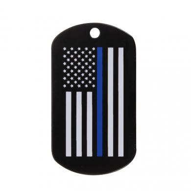 Známka identifikaèní DOG TAG vlajka US s modrou linkou