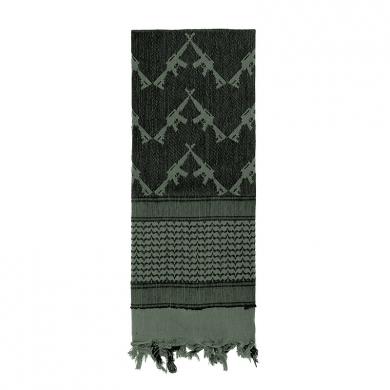 Šátek SHEMAGH CROSSED RIFLES 107 x 107 cm FOLIAGE