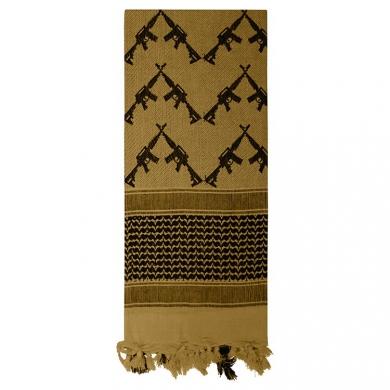Šátek SHEMAGH CROSSED RIFLES 107 x 107 cm COYOTE