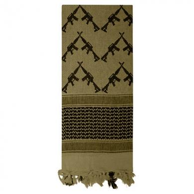 Šátek SHEMAGH CROSSED RIFLES 107 x 107 cm ZELENÝ