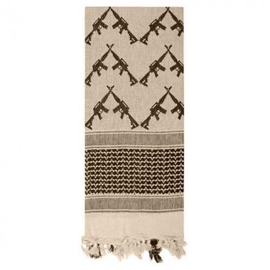 Šátek SHEMAGH CROSSED RIFLES 107 x 107 cm TAN