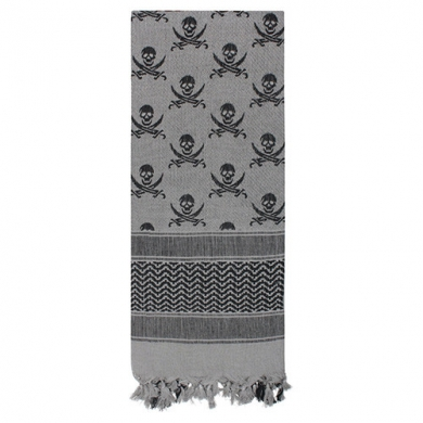 Šátek SHEMAGH LEBKY 107 x 107 cm ŠEDO-ÈERNÝ