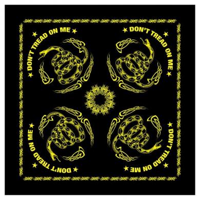 Šátek DON´T TREAD ON ME 55 x 55 cm