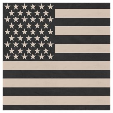 Šátek vlajka USA 55 x 55 cm DESERT