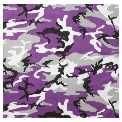 Šátek 68 x 68 cm JUMBO fialové maskování VIOLET CAMO
