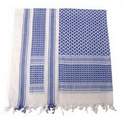 Šátek SHEMAG MODRÁ/BÍLÁ