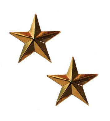 Odznak hodnosti GOLD GENERAL STARS ZLATÝ