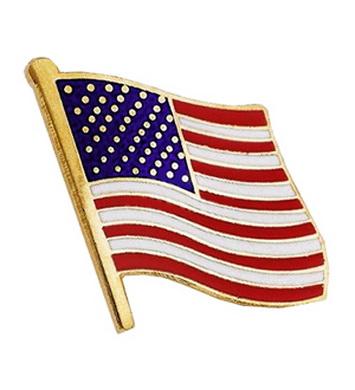 Odznak vlajka USA ZLATÁ
